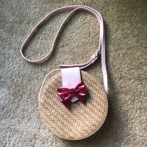 Juicy Couture Straw Purse with Bow Small